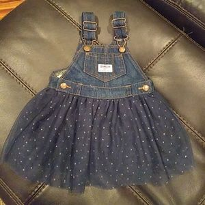 OshKosh B'Gosh baby toddler jumper dress 12 months
